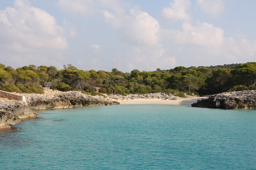 One of many beautiful and difficult to reach beaches on Menorca.
