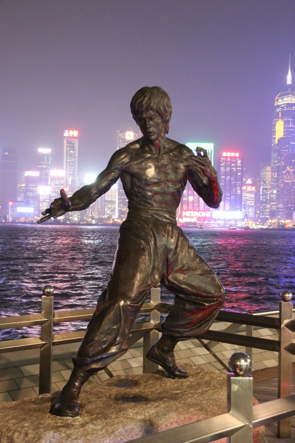 Bruce Lee statue on the Avenue of Stars, Hong Kong.