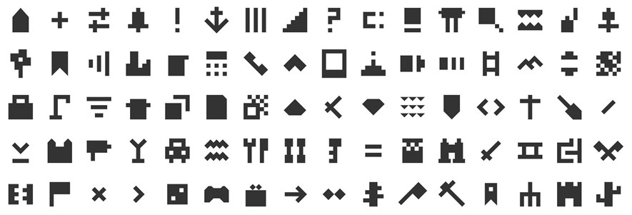 Some of the new icons, these from the icon set Afiado.