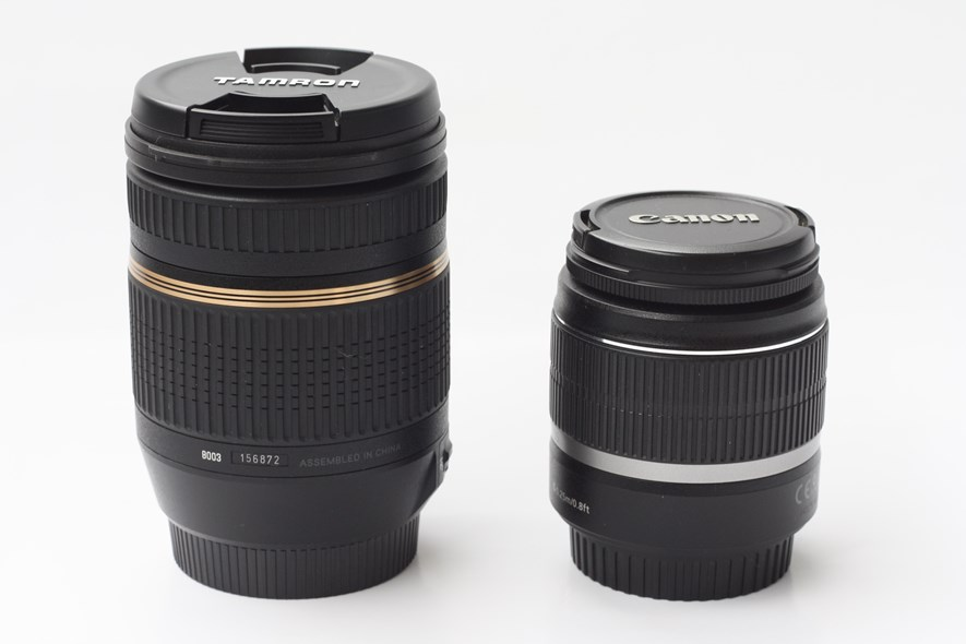 The Tamron compared to the kit lens.