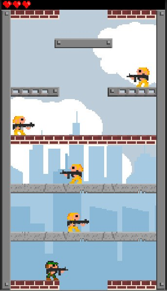 The player with the default sprite is seen at the bottom.