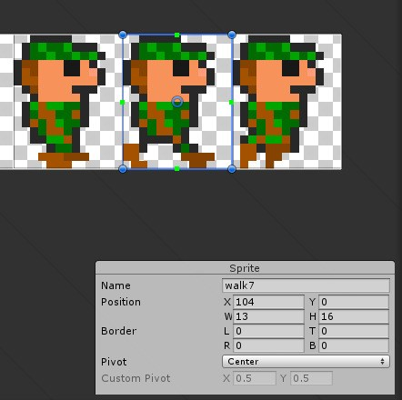 Important: In the sprite editor, name each sprite (frame) consistently across all sprite sheets. The name is used as key for the mapping between sprite sheets.