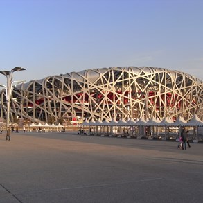 The famous Bird's nest.