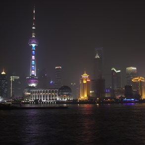 Famous and typical view of Shanghai.
