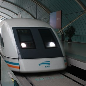 The famous Maglev train in Shanghai.