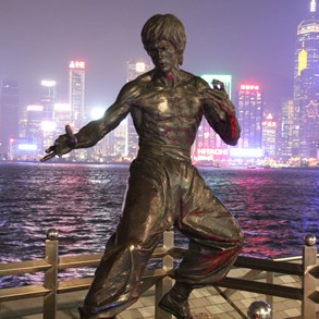 Bruce Lee, on the Avenue of Stars.