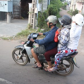 Popular means of transportation in Vietnam.